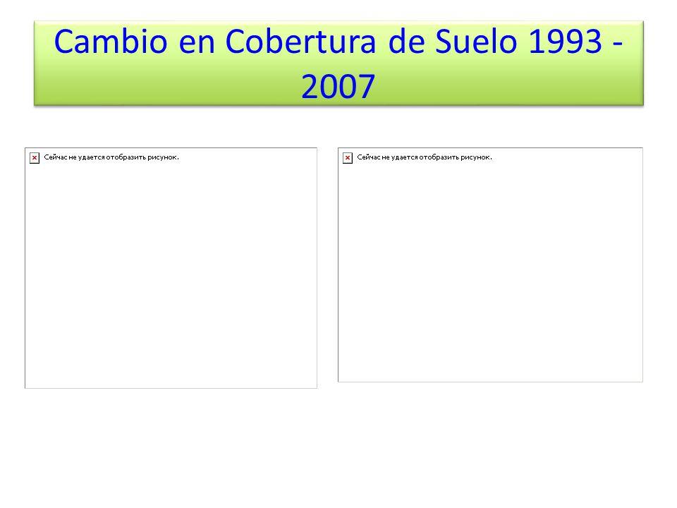 Cambio en Cobertura de Suelo 1993 - 2007