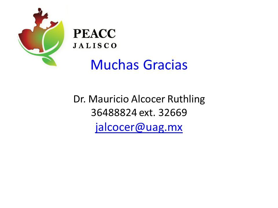 Muchas Gracias Dr. Mauricio Alcocer Ruthling 36488824 ext. 32669