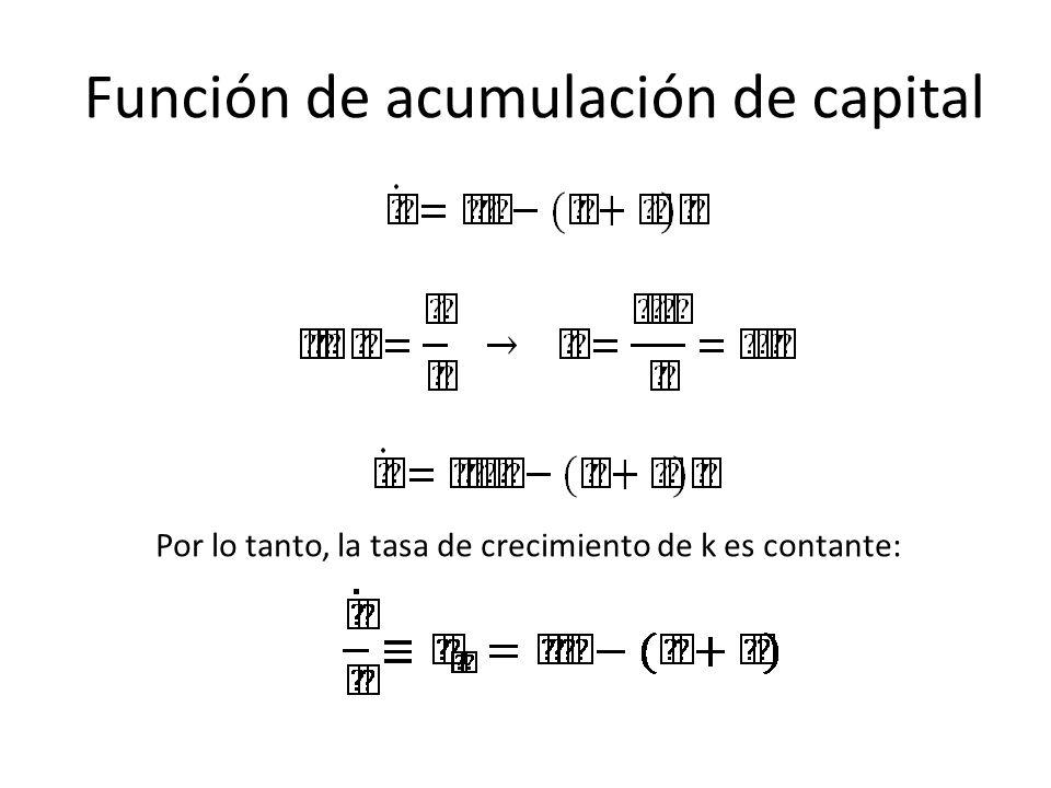 Función de acumulación de capital