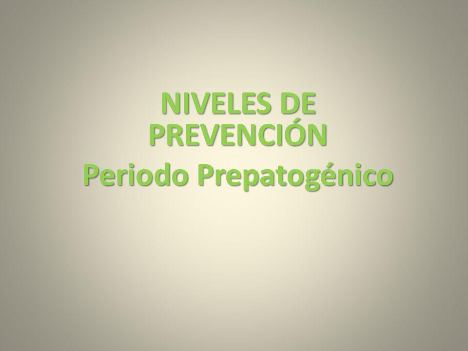NIVELES DE PREVENCIÓN Periodo Prepatogénico