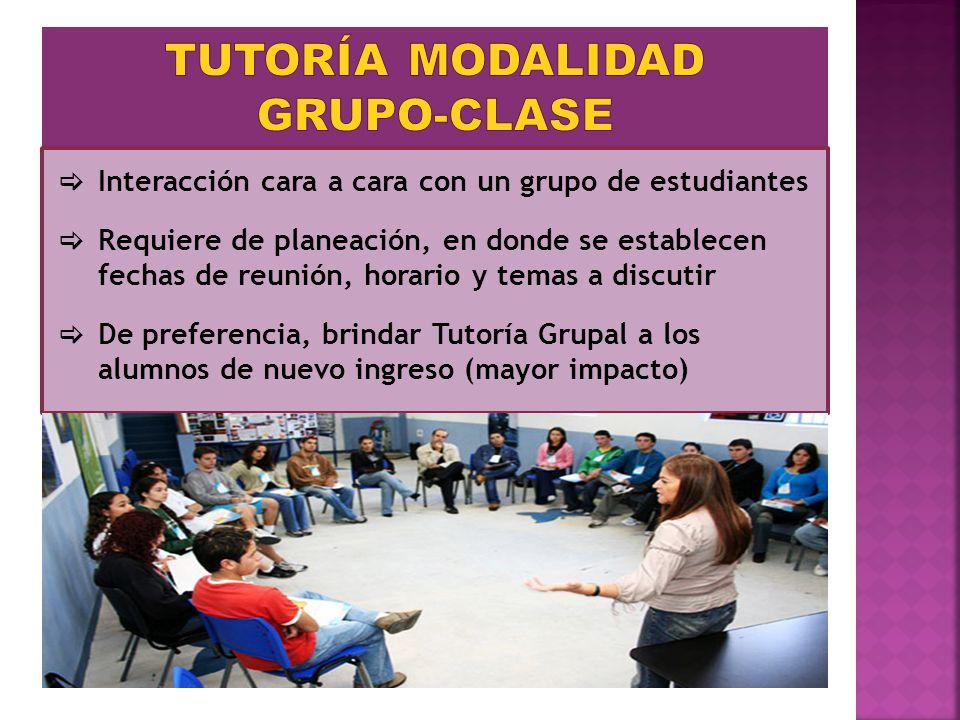 TUTORÍA MODALIDAD GRUPO-CLASE