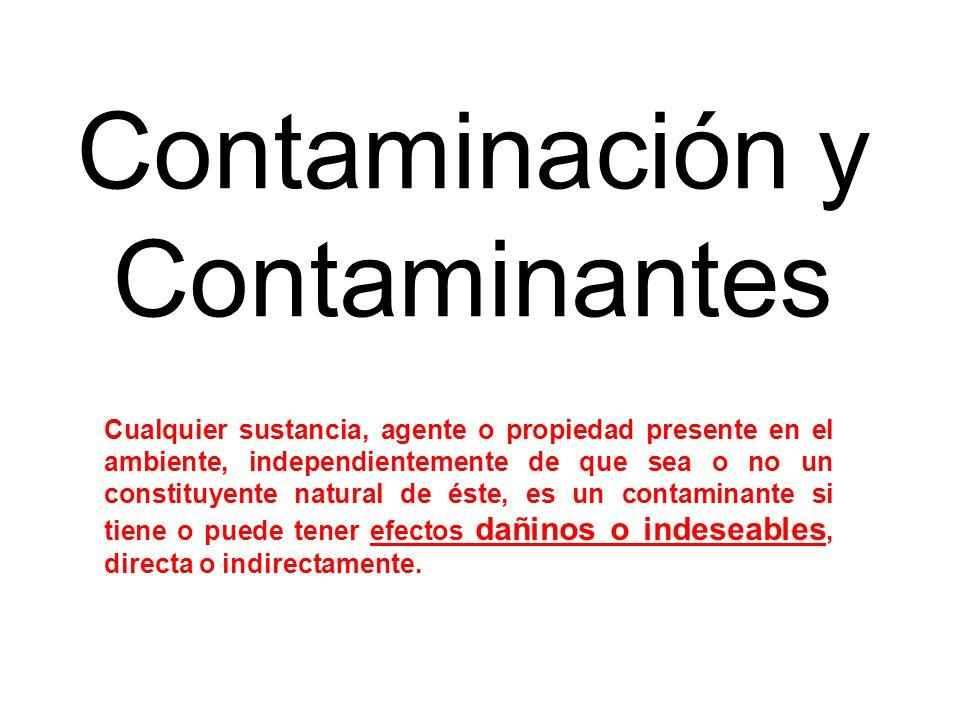Contaminación y Contaminantes