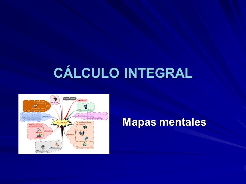 CÁLCULO INTEGRAL Mapas mentales