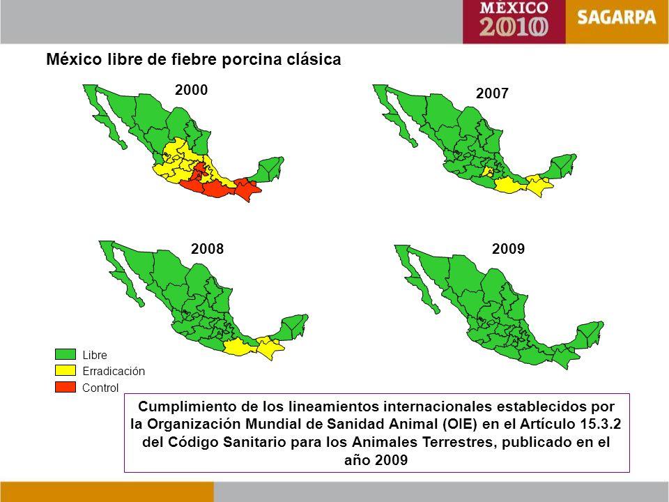 México libre de fiebre porcina clásica