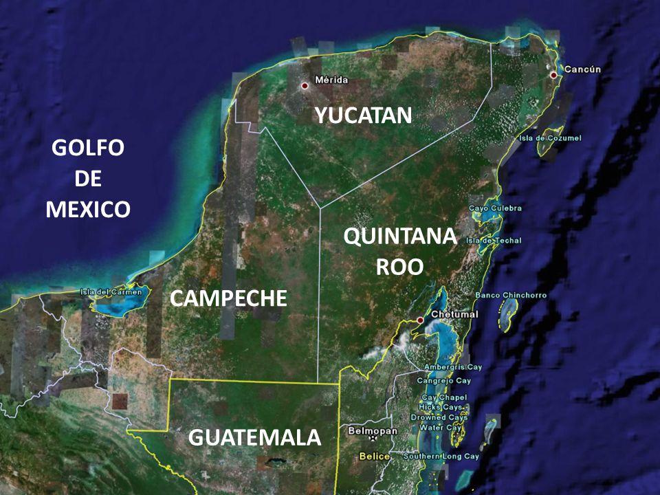YUCATAN GOLFO DE MEXICO QUINTANA ROO CAMPECHE GUATEMALA