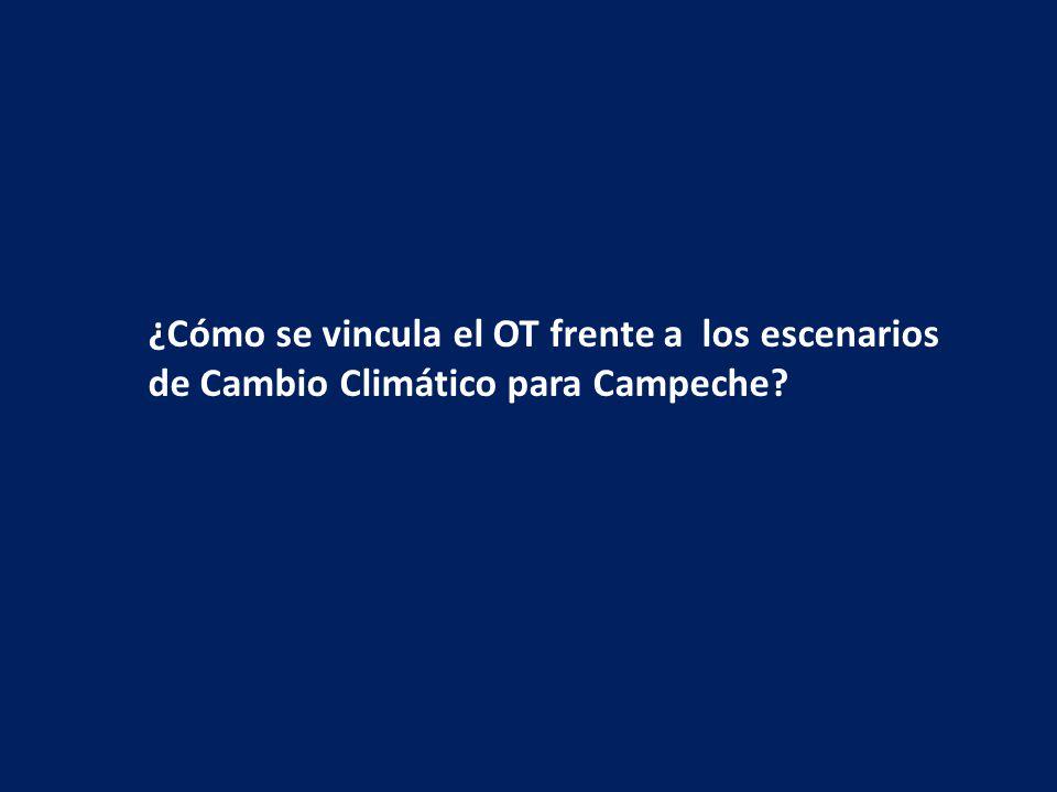 ¿Cómo se vincula el OT frente a los escenarios de Cambio Climático para Campeche