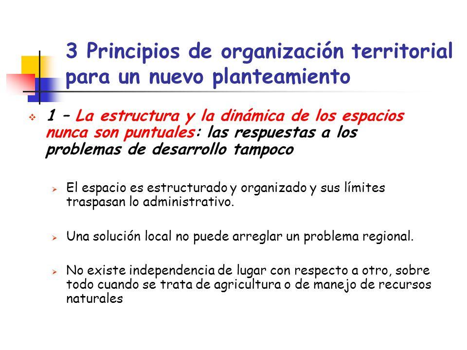 3 Principios de organización territorial para un nuevo planteamiento