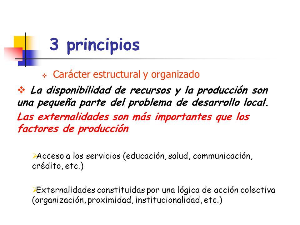 3 principios Carácter estructural y organizado