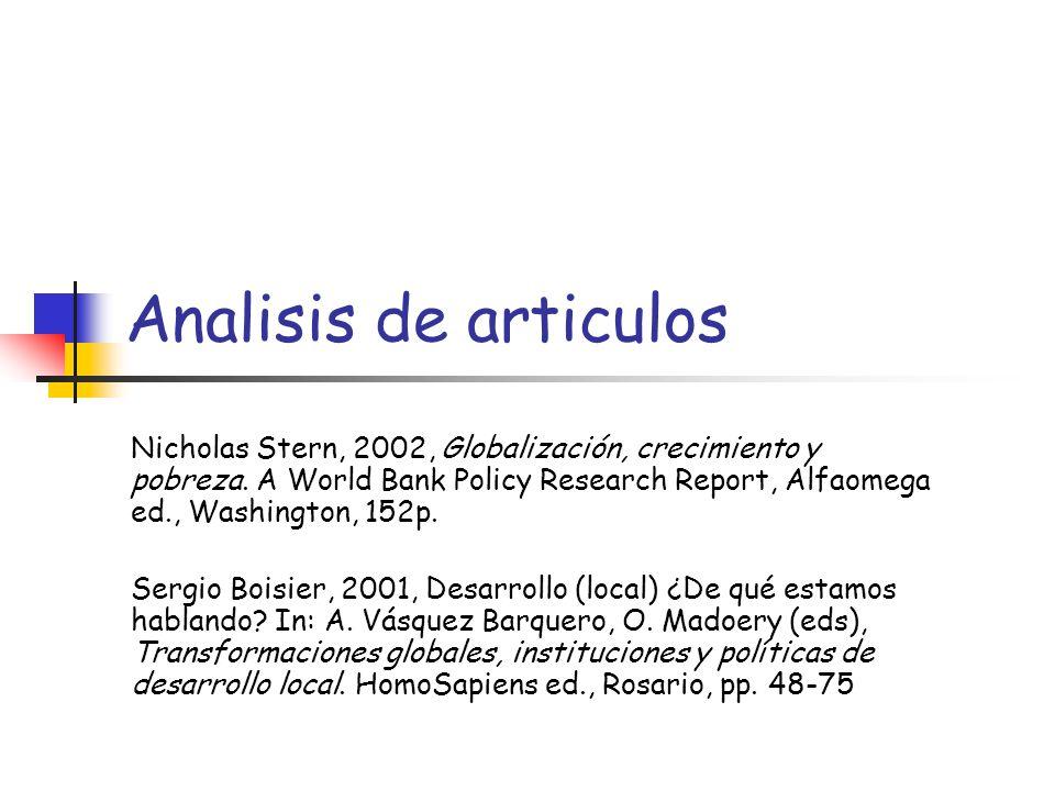 Analisis de articulos