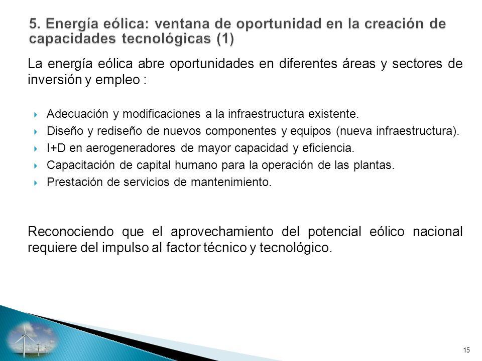 5. Energía eólica: ventana de oportunidad en la creación de capacidades tecnológicas (1)