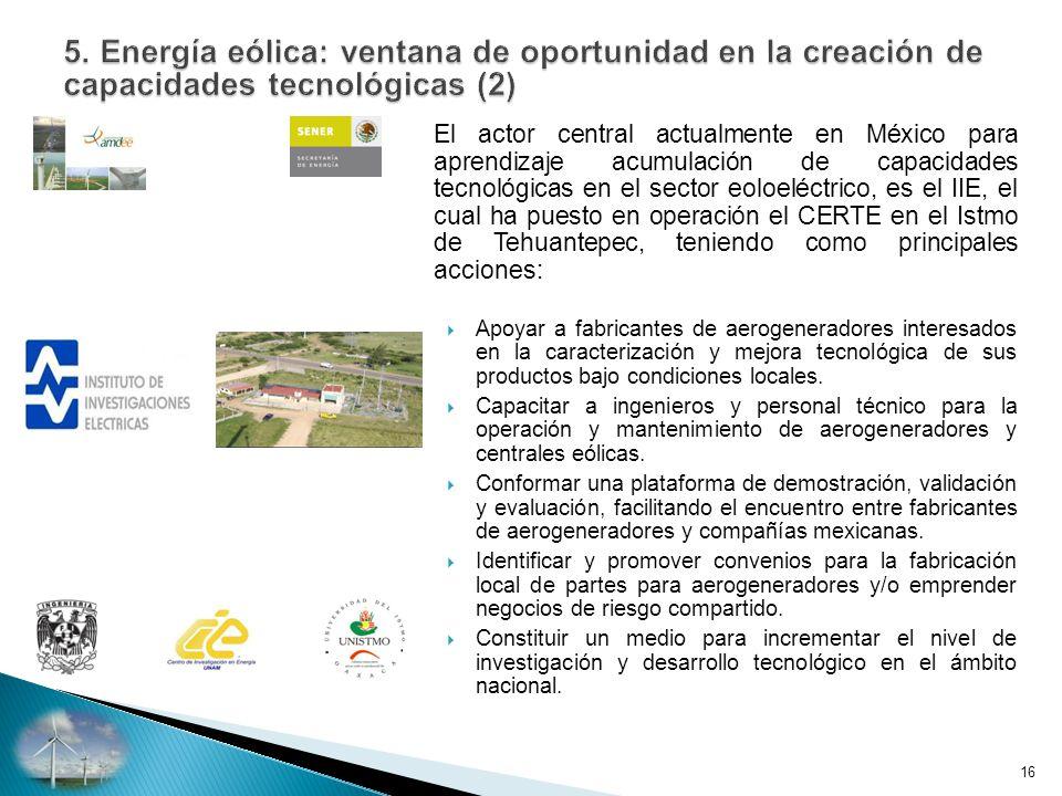 5. Energía eólica: ventana de oportunidad en la creación de capacidades tecnológicas (2)