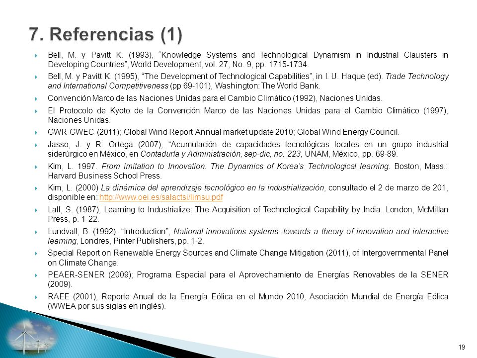 7. Referencias (1)