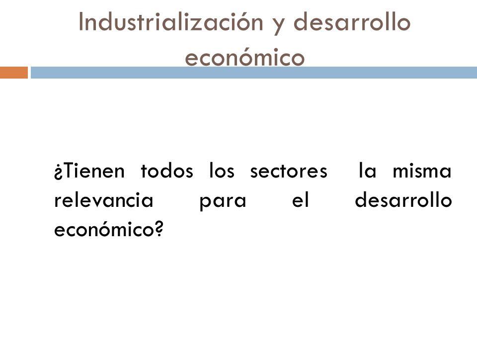 Industrialización y desarrollo económico