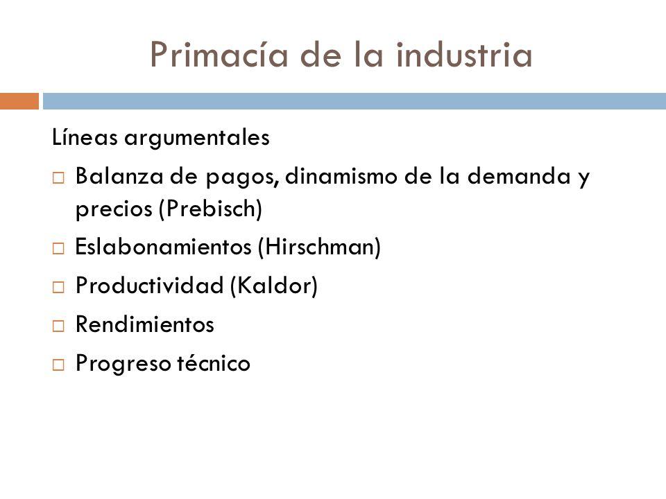 Primacía de la industria
