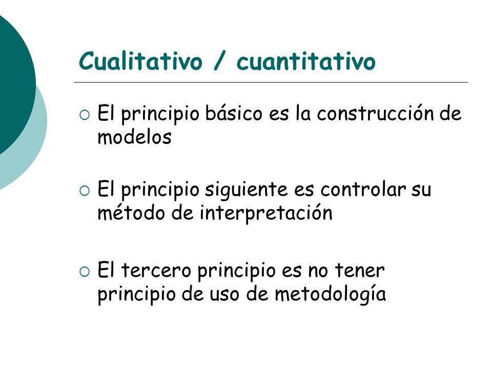 Cualitativo / cuantitativo