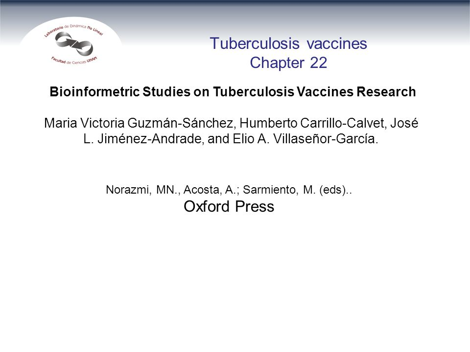 Tuberculosis vaccines Chapter 22