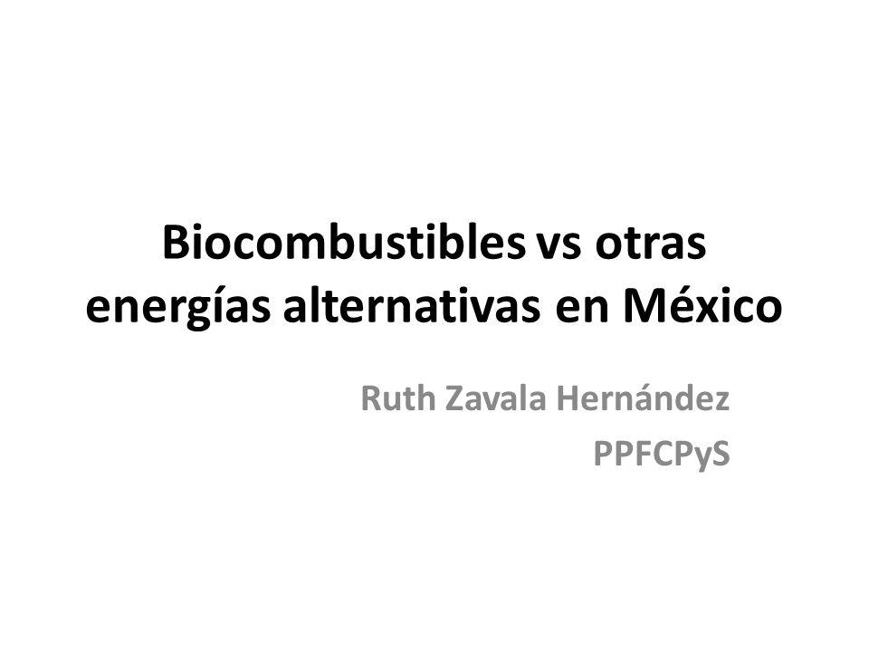 Biocombustibles vs otras energías alternativas en México