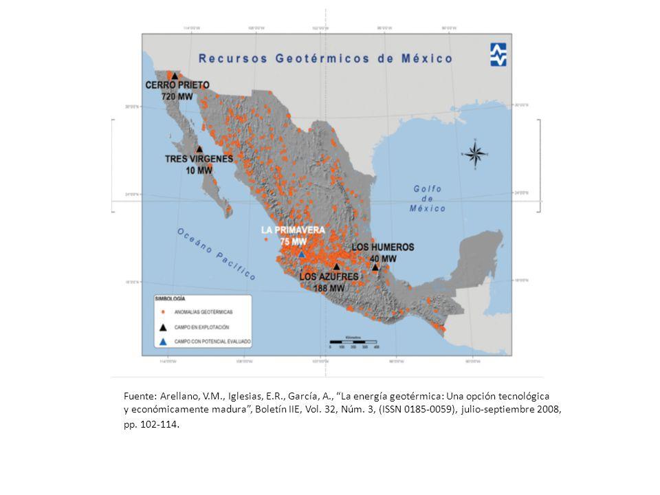 Fuente: Arellano, V. M. , Iglesias, E. R. , García, A