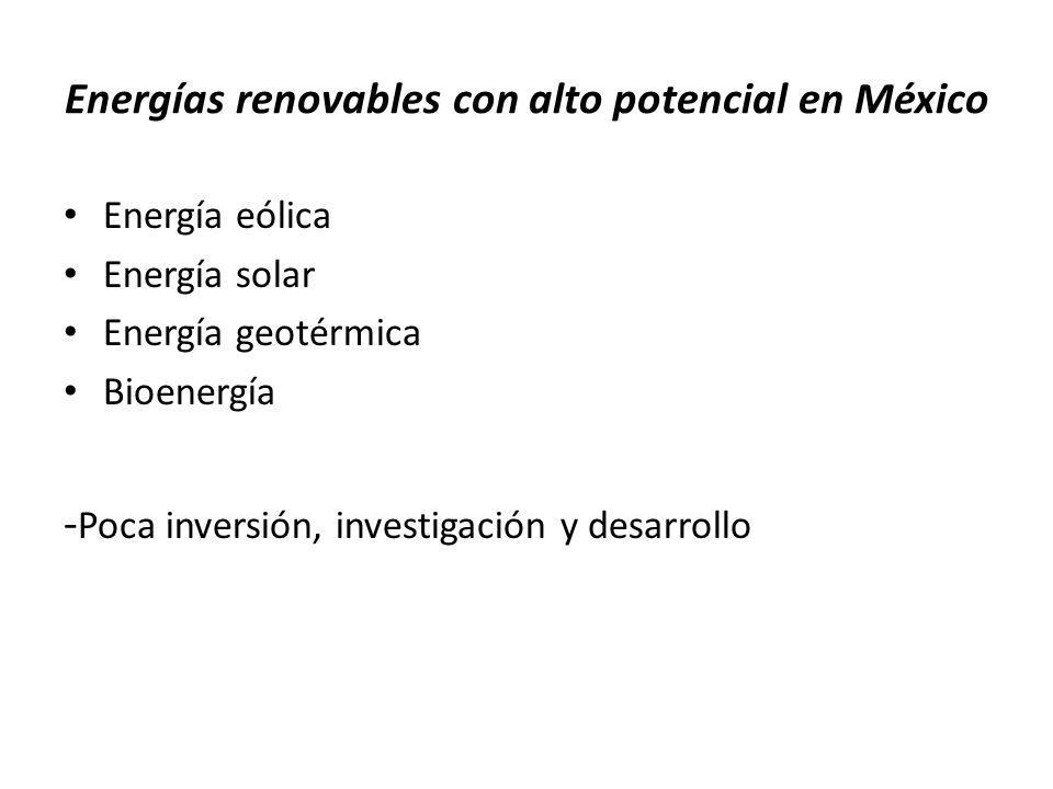 Energías renovables con alto potencial en México