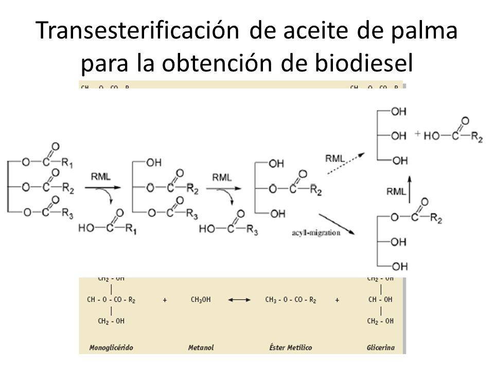 Transesterificación de aceite de palma para la obtención de biodiesel