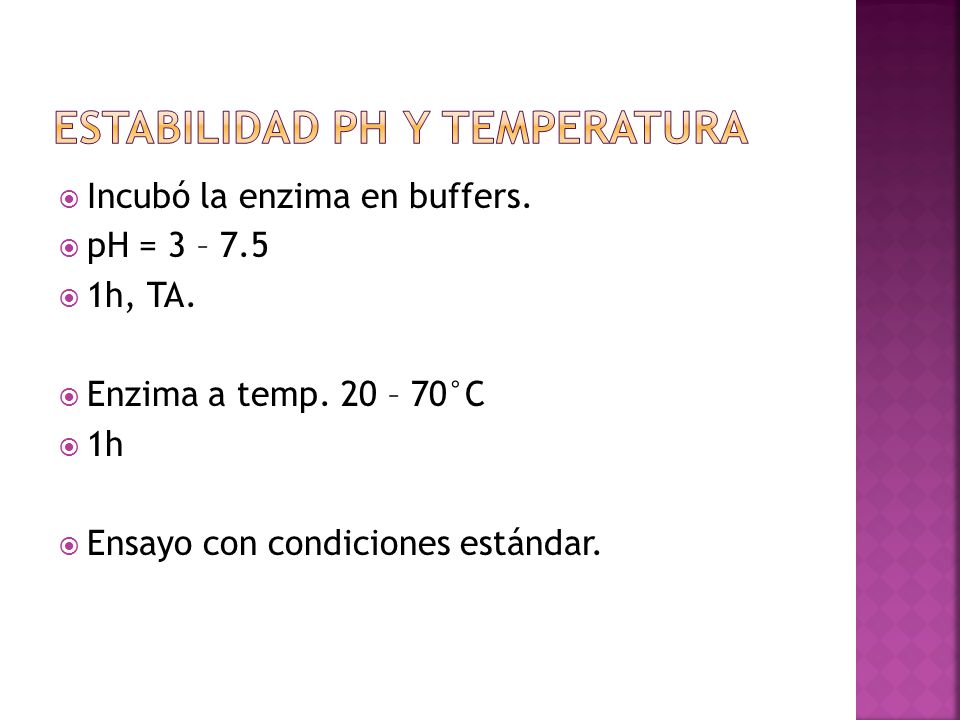 Estabilidad Ph y temperatura