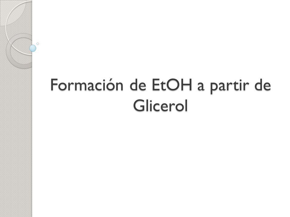 Formación de EtOH a partir de Glicerol