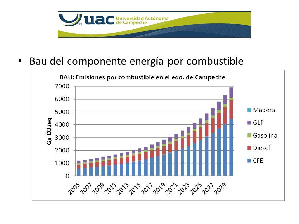 Bau del componente energía por combustible