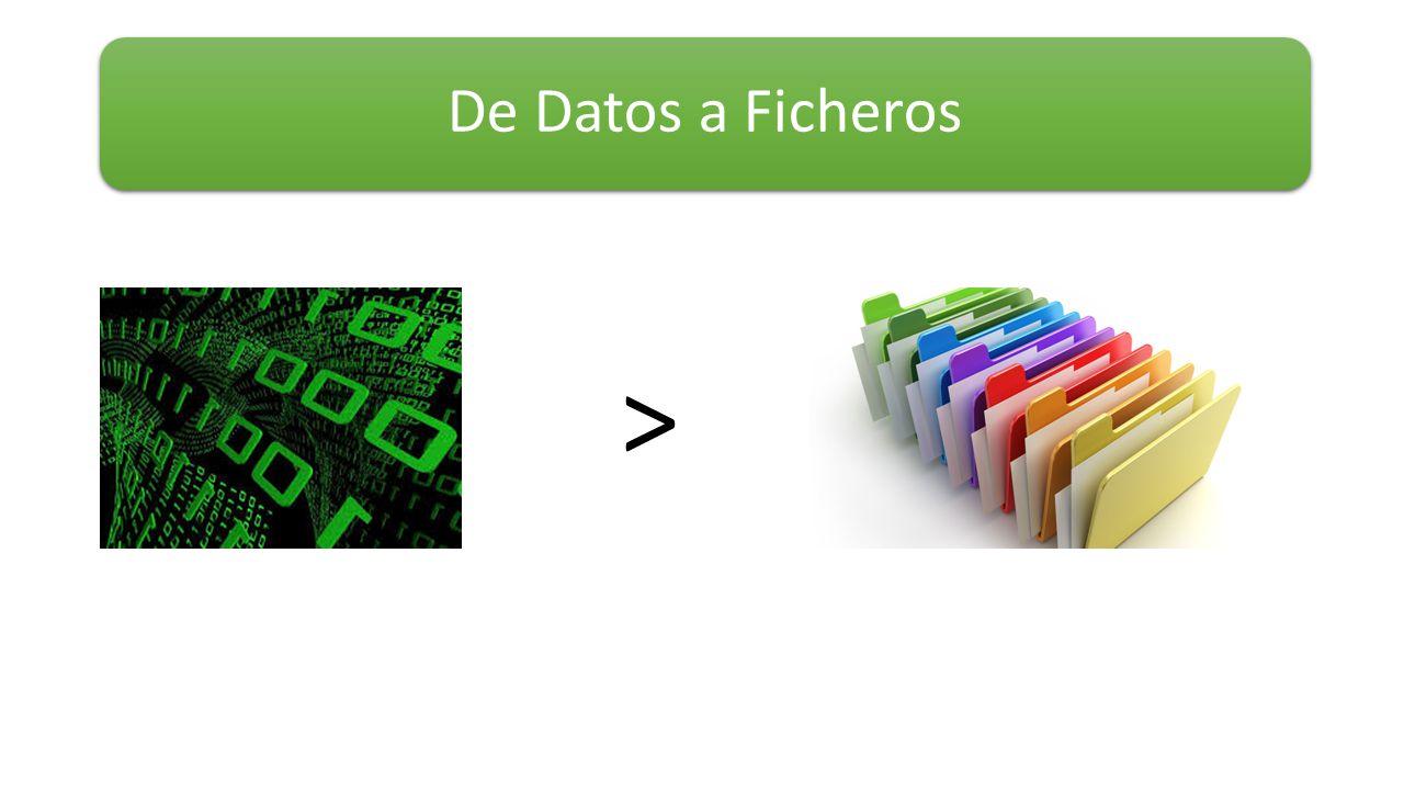 De Datos a Ficheros >