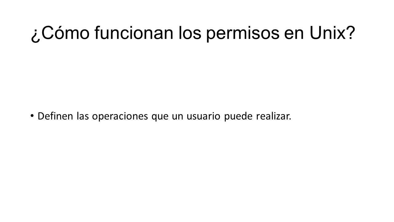 ¿Cómo funcionan los permisos en Unix