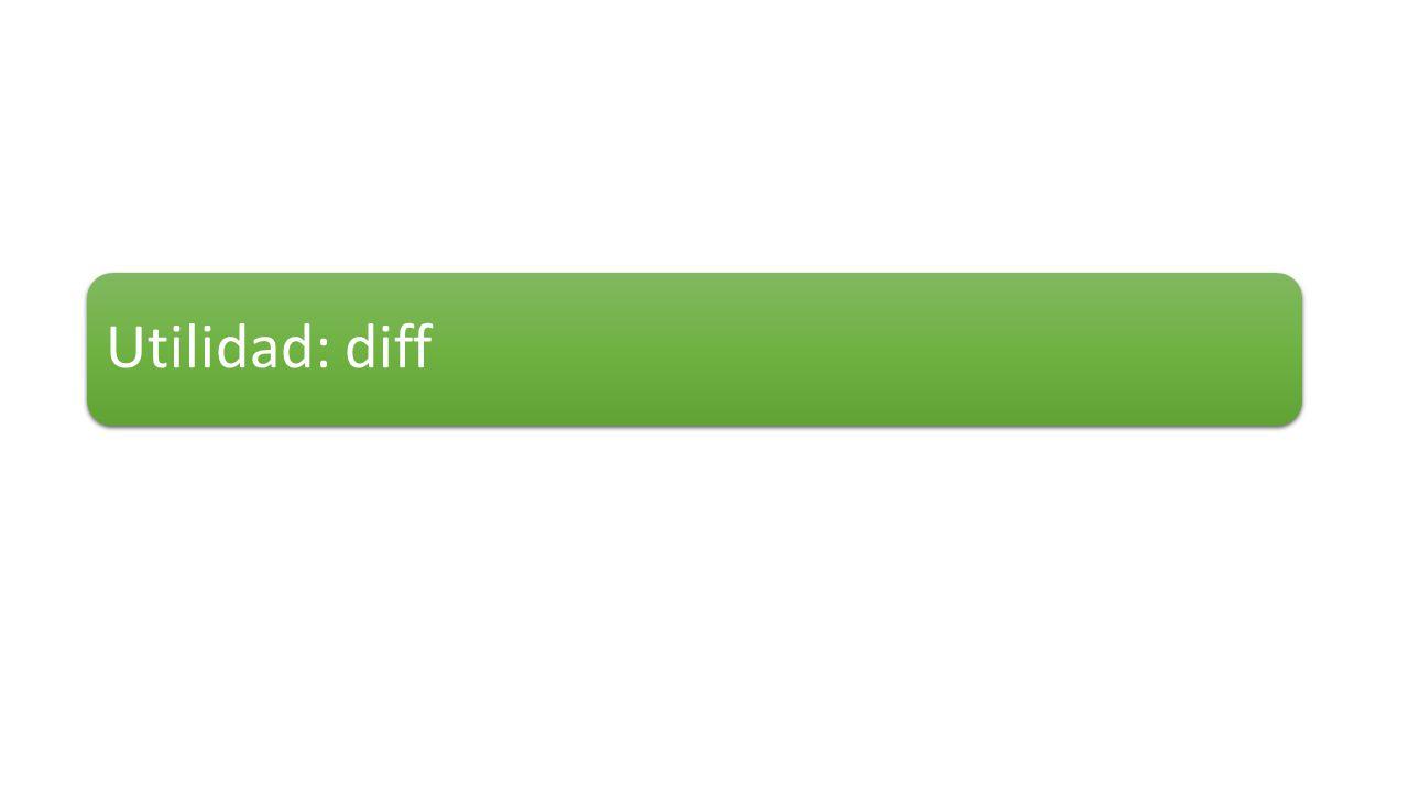 Utilidad: diff