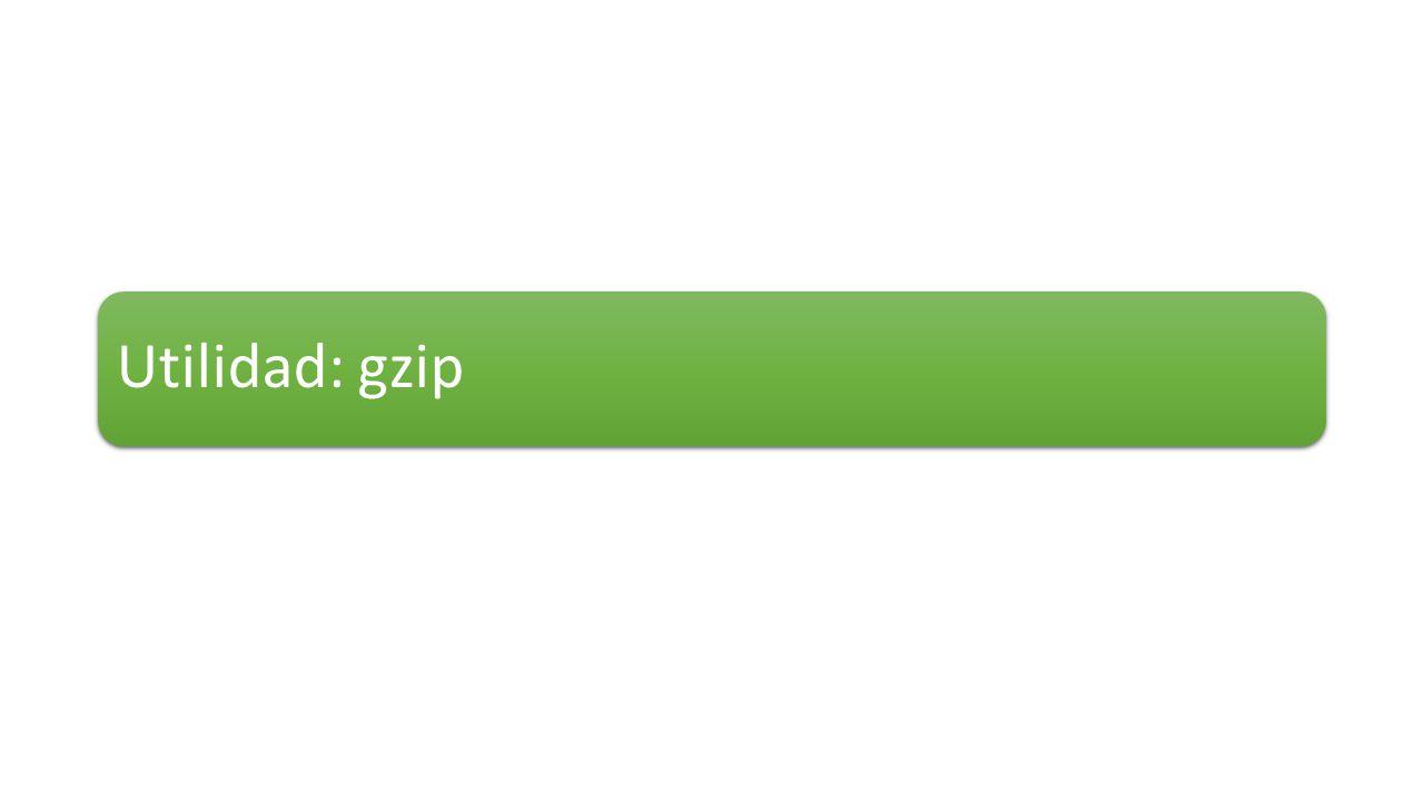 Utilidad: gzip