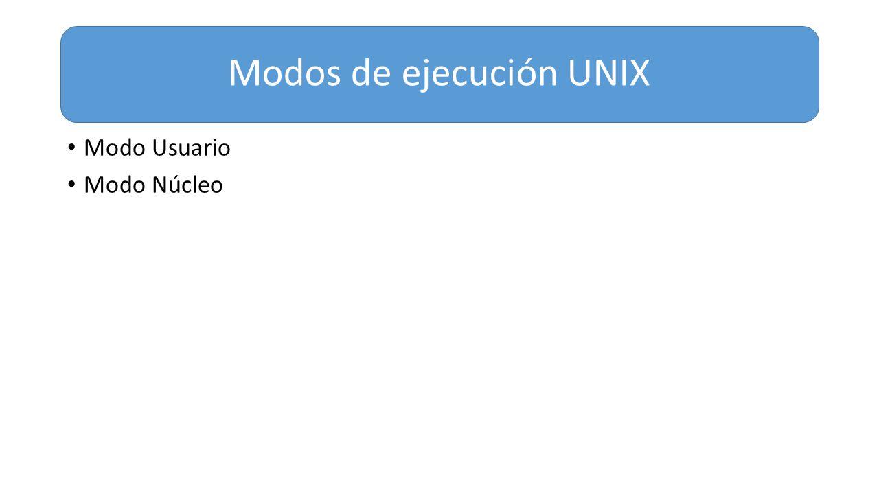 Modos de ejecución UNIX