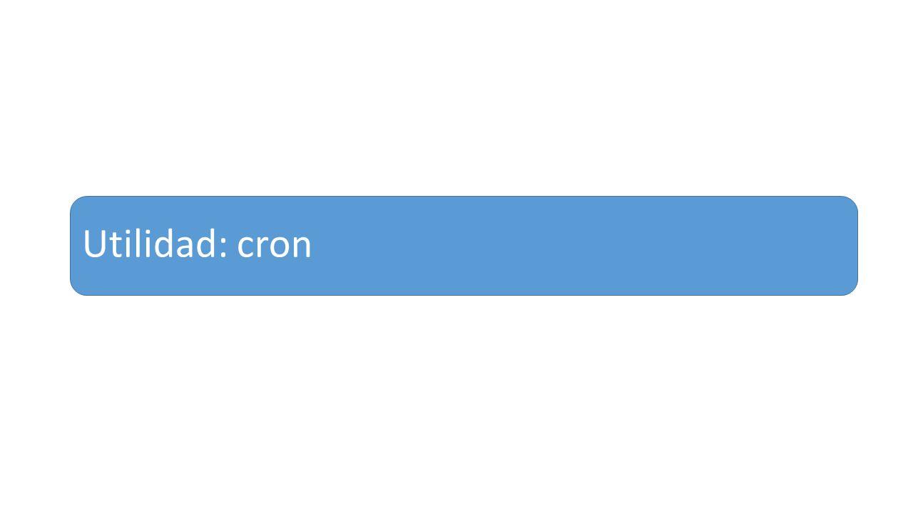 Utilidad: cron