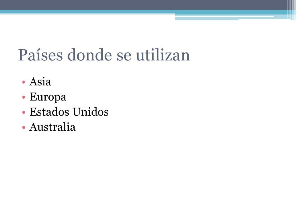 Países donde se utilizan