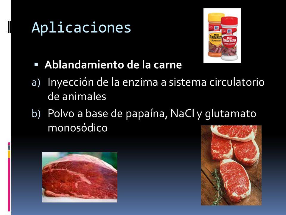 Aplicaciones Ablandamiento de la carne