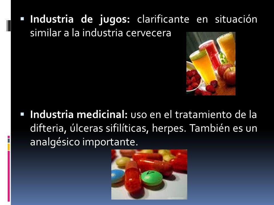 Industria de jugos: clarificante en situación similar a la industria cervecera