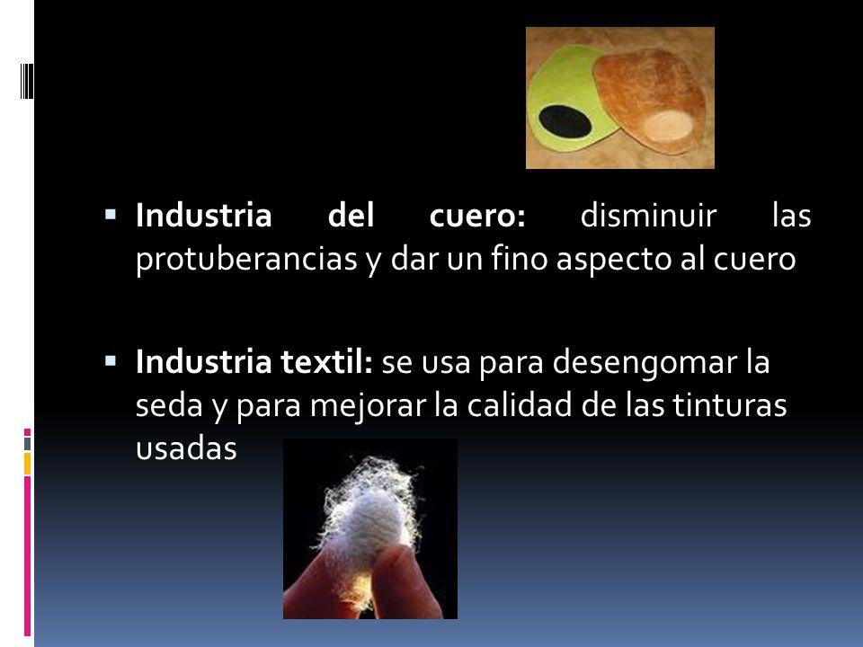 Industria del cuero: disminuir las protuberancias y dar un fino aspecto al cuero