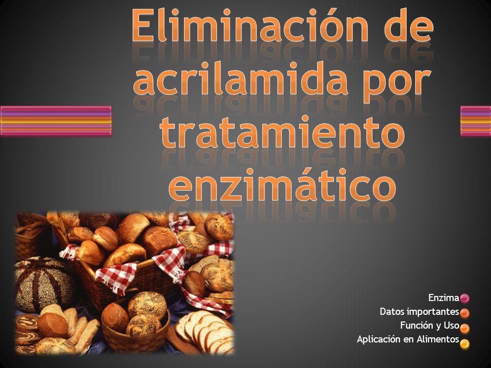 Eliminación de acrilamida por tratamiento enzimático