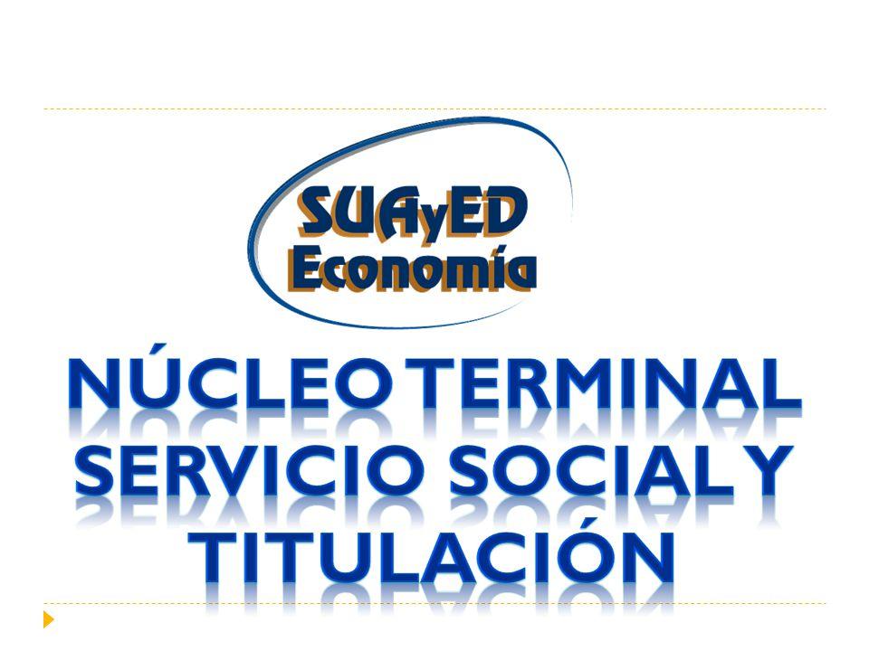 Núcleo terminal Servicio social y titulación