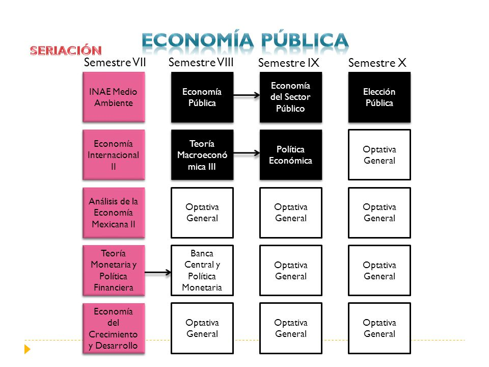 Economía PÚBLICA SERIACIÓN Semestre VII Semestre VIII Semestre IX
