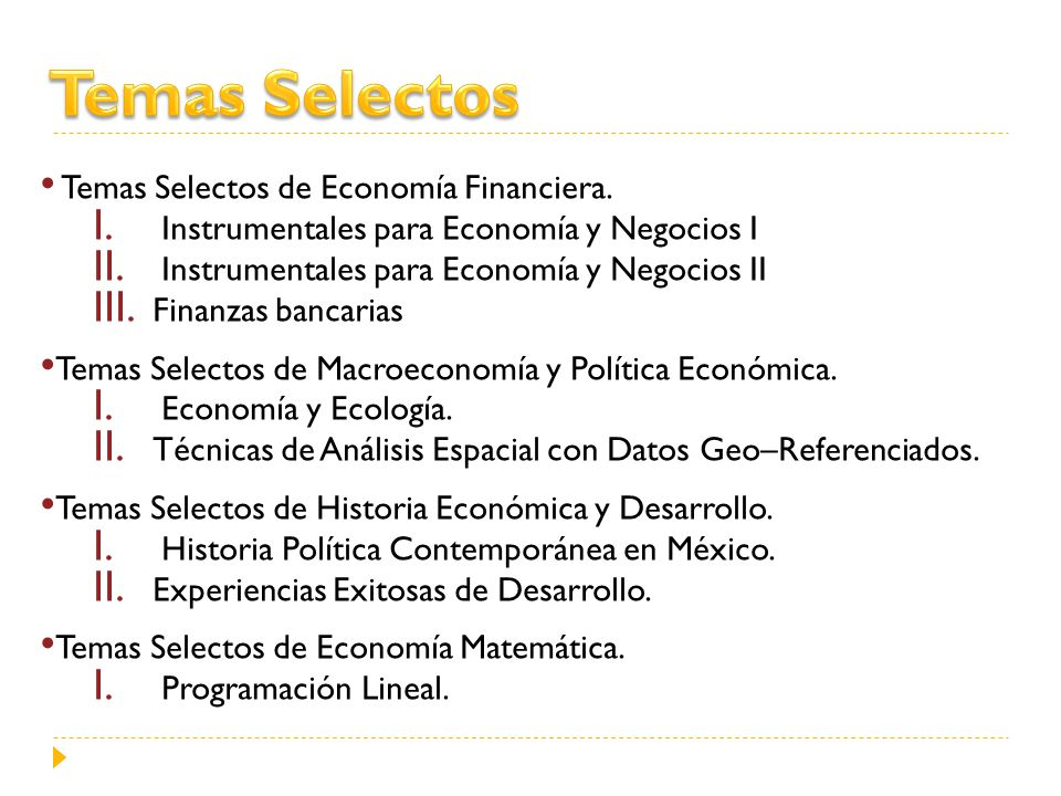 Temas Selectos Temas Selectos de Economía Financiera.