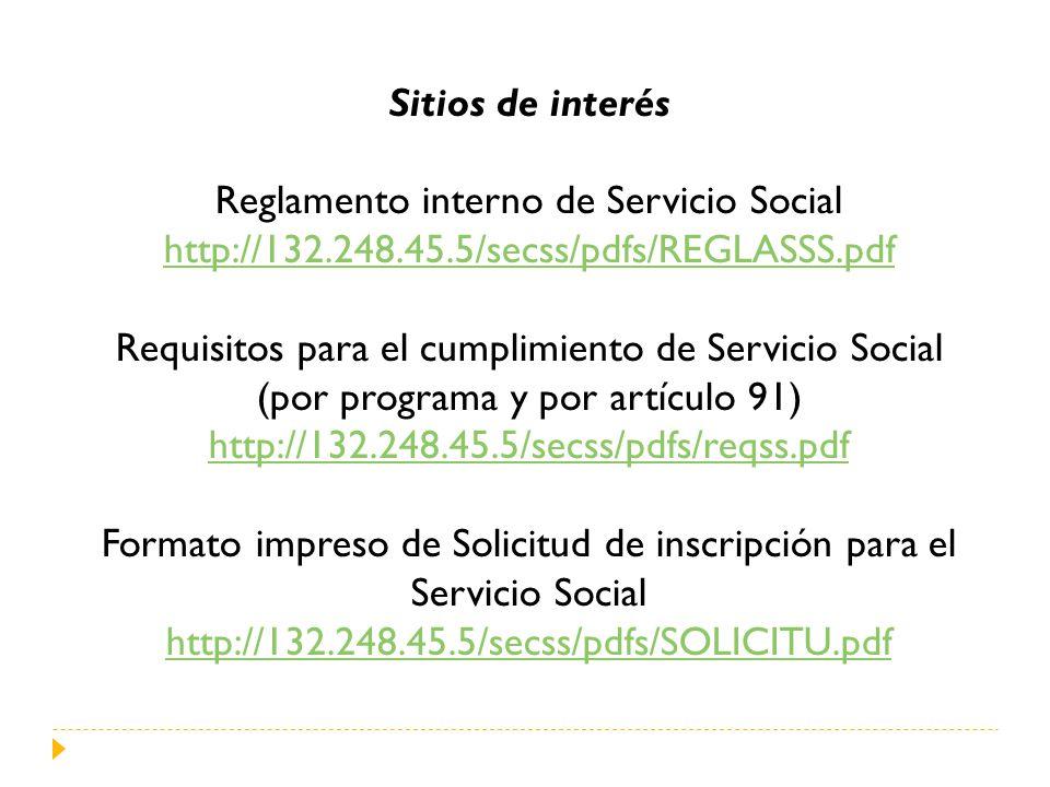 Reglamento interno de Servicio Social