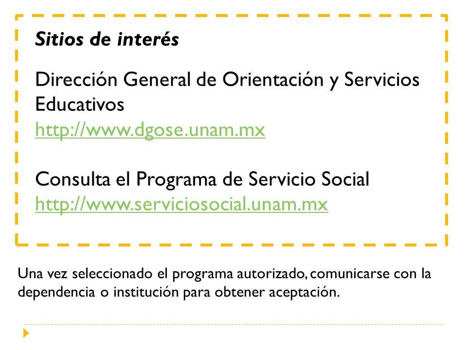 Dirección General de Orientación y Servicios Educativos