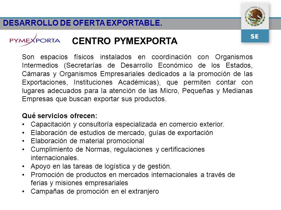 CENTRO PYMEXPORTA DESARROLLO DE OFERTA EXPORTABLE.
