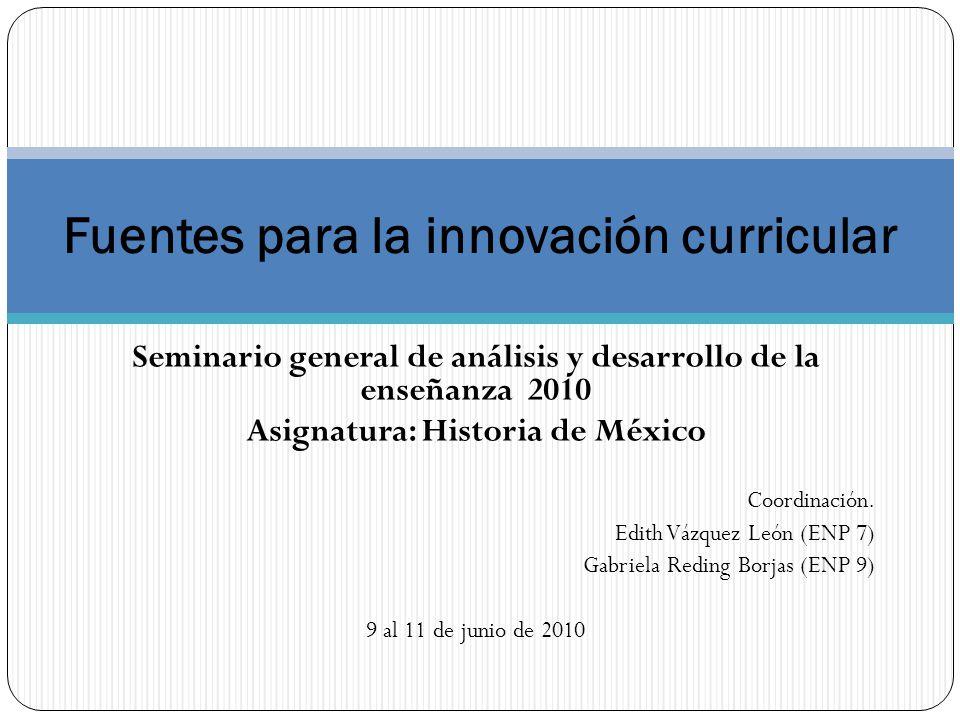 Fuentes para la innovación curricular