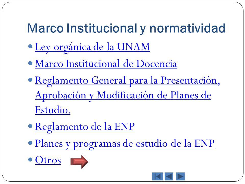 Marco Institucional y normatividad
