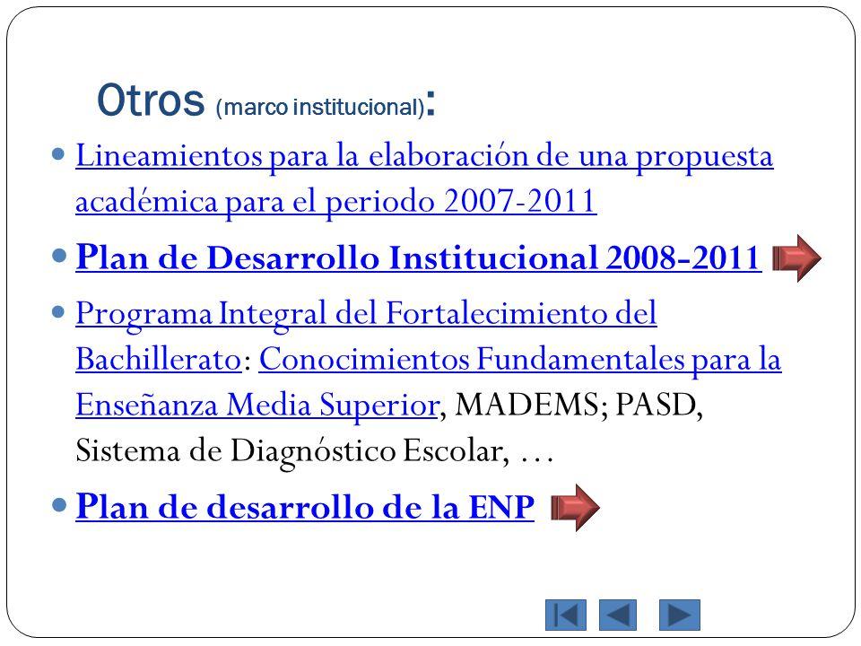 Otros (marco institucional):