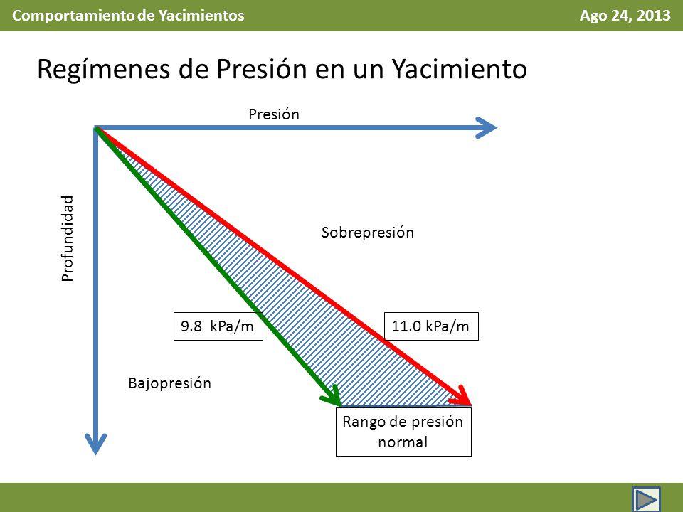 Comportamiento de Yacimientos Ago 24, 2013
