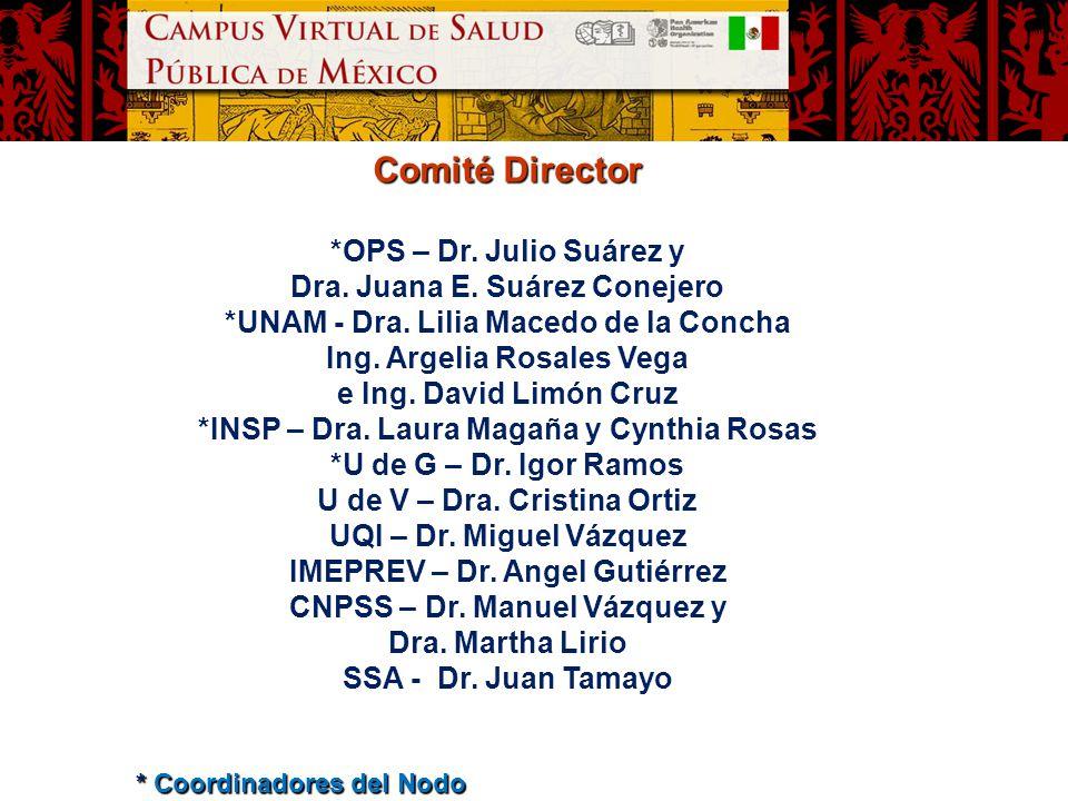 Comité Director *OPS – Dr. Julio Suárez y