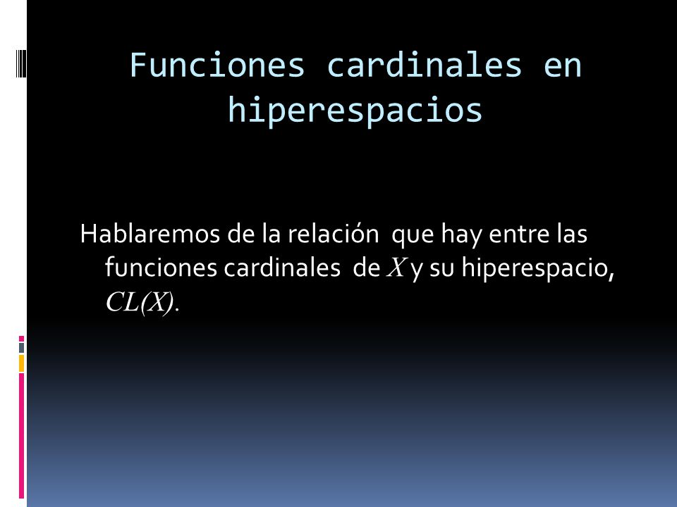 Funciones cardinales en hiperespacios